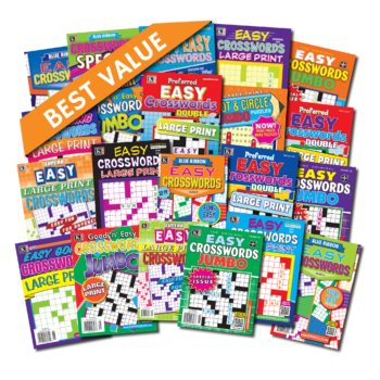21 Easy Crossword Magazines