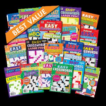 21 Easy Crossword Magazines