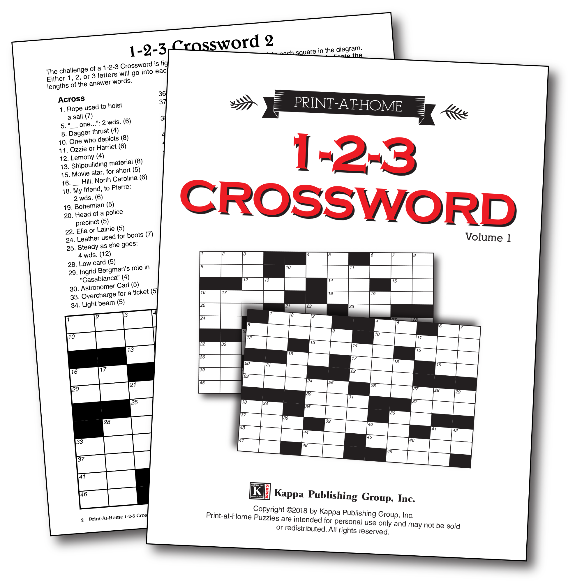 Print At Home Puzzles Kappa Logic Diagram Crossword Clue 1 2 3