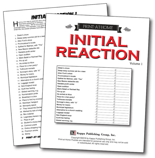 Print-at-Home Initial Reaction