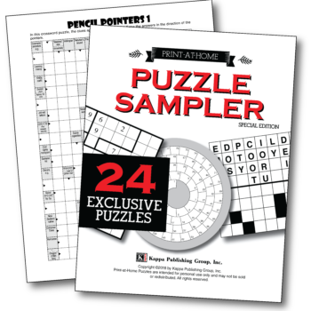 letter after kappa crossword print at home pencil pointers kappa puzzles 22761 | PAH Puzzle Sampler 350x350