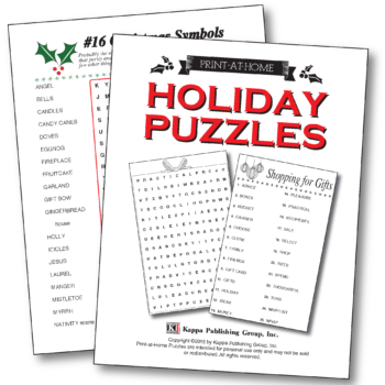 letter after kappa crossword print at home pencil pointers kappa puzzles 22761 | PAH Website Holiday Booklet 350x350
