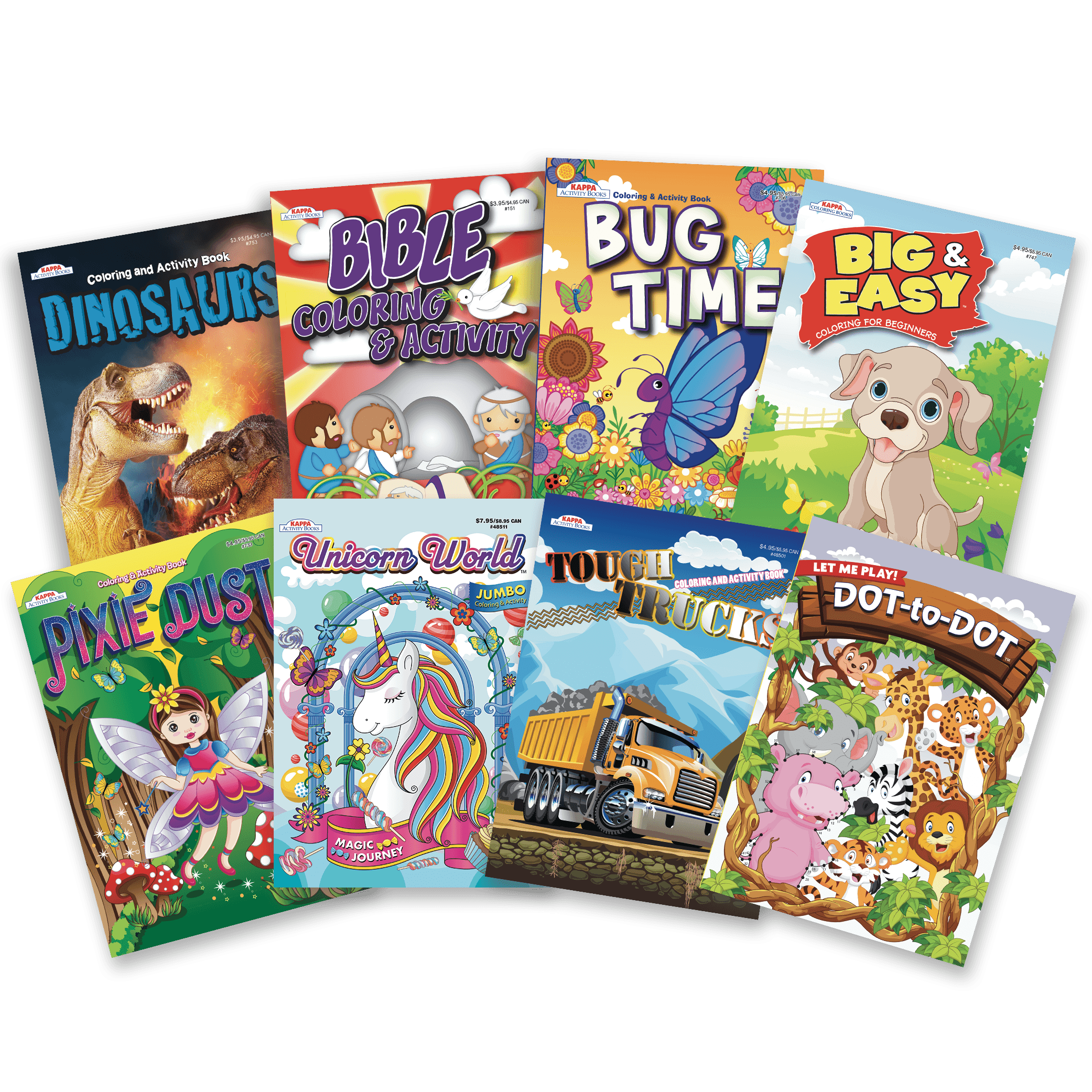 - 8 Kids' Coloring Books – Kappa Puzzles
